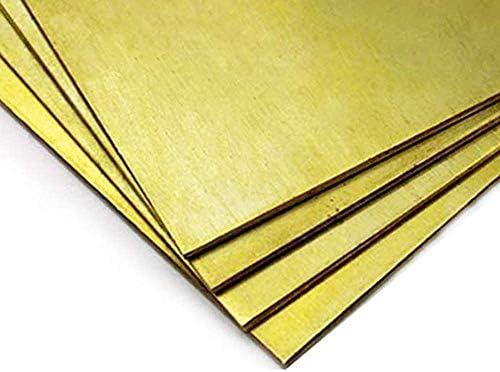 Asitlf Brass Sheet Foil Tape H62 Cu Metal Sheet Thin Copper Roll Panel DIY Brass Crafts Metalworking Plate 200mmx3000mm,Thickness 0.02mm