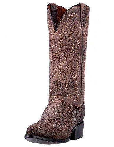- Dan Post Men's Durham Teju Lizard Cowboy Boot Round Toe Sand 10.5 EE US
