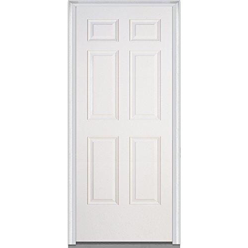 National Door Z028958L Builder's Classic 6-Panel Fiberglass by National Door Company