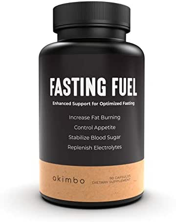 Fasting Fuel - All-in-One Intermittent Fasting & Ketogenic Diet Optimization & Support. Electrolyte Hydration, L-Carnitine, Green Tea Extract, Moringa. Gluten Free. Vegan. - 30 Servings.