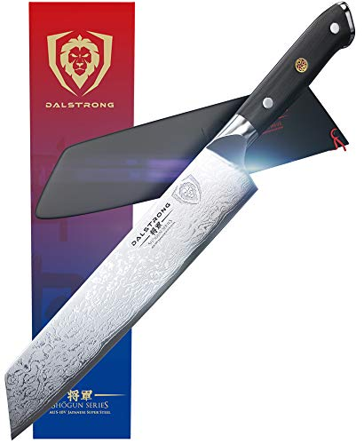 "DALSTRONG Kiritsuke Chef Knife - Shogun Series - Damascus - Japanese AUS-10V Super Steel - 8.5"" (216 mm) - Sheath"