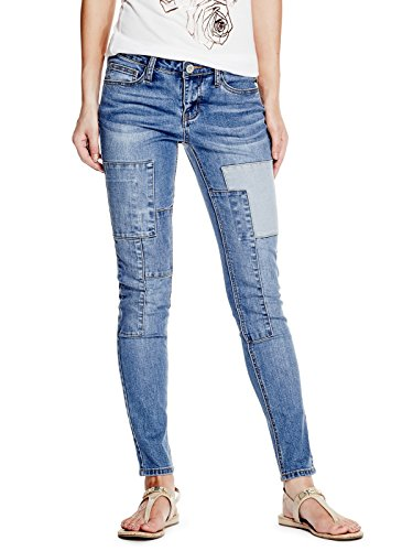 GUESS-Factory-Womens-Patchwork-Skinny-Jeans