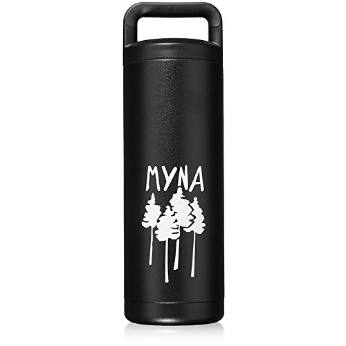 Myna Forum Bottle, 18 oz Double Insulated Stainless Steel Outdoor Leak Proof Water Bottle w/ Wide Mouth (BPA-Free)
