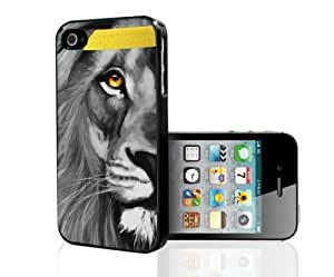 Close up Lion Face with Bold Golden Yellow Eyes and Head Band Hard Snap on Phone Case (iPhone 6 plus 5.5)