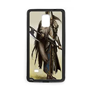 White Lion Warhammer 0 Game Samsung Galaxy Note 4 Cell Phone Case Black Gift pjz003_3282636