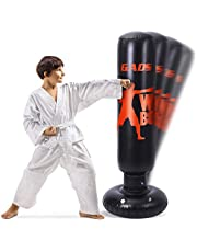 Gads Punching Bag for Kids and Adults   Premium Inflatable Bag for Immediate Bounce-Back   62 inches Free Standing Bag for Boxing, Kickboxing, Karate & Stress Relief
