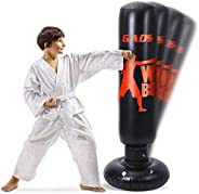 Gads Punching Bag for Kids and Adults | Premium Inflatable Bag for Immediate Bounce-Back | 62 inches Free Stan