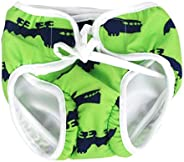 Stylish Reusable Washable Swim Diapers Swimming Nappies for Unisex Babies 2-3 Years Old(Green)