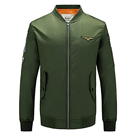 Amazon.com: Military Style Bomber Jacket Men Mens Jackets And Coats Militar Jackets For Men Chaqueta Cazadoras Hombre Veste Homme.DA02: Clothing