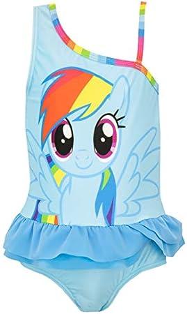 Bañador para niñas de Mi Pequeño Pony.,Este traje de baño azul de Mi Pequeño Pony viene con un estam