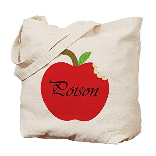 CafePress - Poison Apple Tote Bag - Natural Canvas Tote Bag, Cloth Shopping Bag (Snow White Apple Bag)