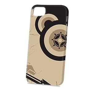 Case Fun Apple iPhone 5 / 5S Case - Vogue Version - 3D Full Wrap - Brown Circle Pattern