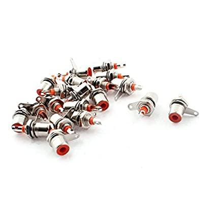 20pcs DealMux Amplificador de áudio RCA Female Jack soquete do conector tom de prata