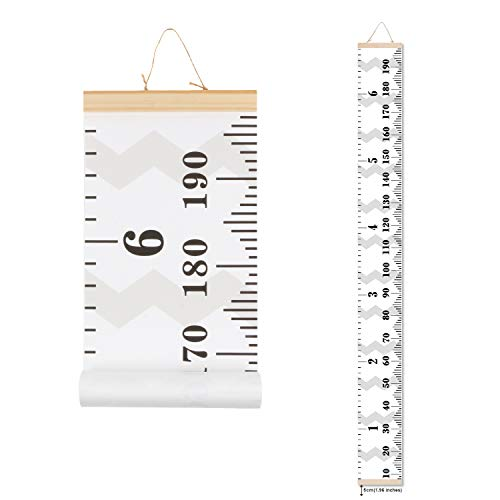 Scotamalone Growth Chart, Children Canvas Height Chart, Hanging Ruler, Wall Dector for Nursery Room,Easy to Draw & Record, Precious Gift for Kids Children (79inches x ()