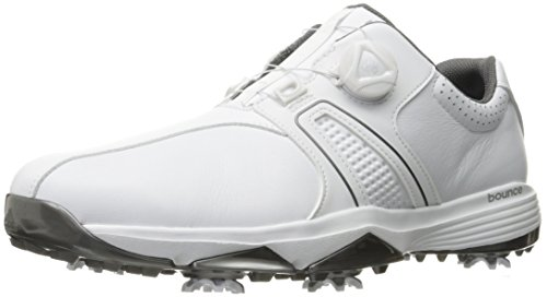 adidas Men's 360 Traxion Boa Ftwwht/Ft Golf Shoe, White, 9.5 M US