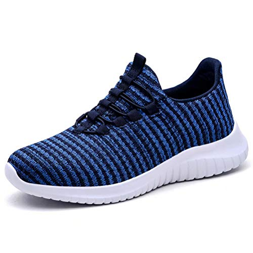 Arch Tennis - konhill Women's Breathable Sneakers Casual Knit Tennis Athletic Walking Running Shoes 6.5 US Blue,38