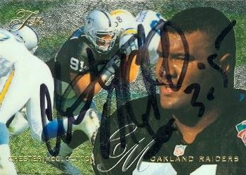 Chester McGlockton autographed Football Card (Oakland Raiders) 1995 Fleer Flair #153 - NFL Autographed Football Cards