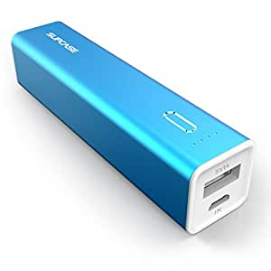 SUPCASE 3000 mAh Ultra Compact External Battery Portable USB Charger Power Bank, 5V 1A External Mobile Battery Charger Pack for Apple iPhone 6 Plus 5s 5c 5 Samsung Galaxy S5 S4 Active Mini, Note 3 4 Pro Edge, LG G3 G2, Nexus 6 5 4, HTC One M8, MOTO X X+1 and More (Blue)