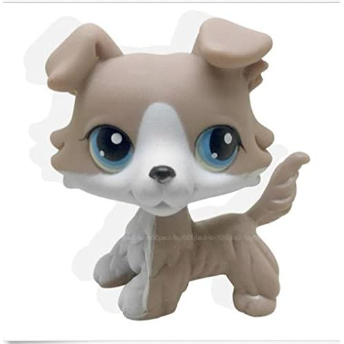 2pcs 67 58 Littlest Pet Shop Brown Collie Dog Puppy Lps Rare Toy