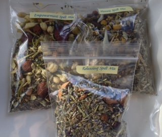 Spell Sampler: 1 ~ Purification, Empowerment, Releasing ~ Spell mix ~ 1/2 oz each ~ Ravenz Roost h