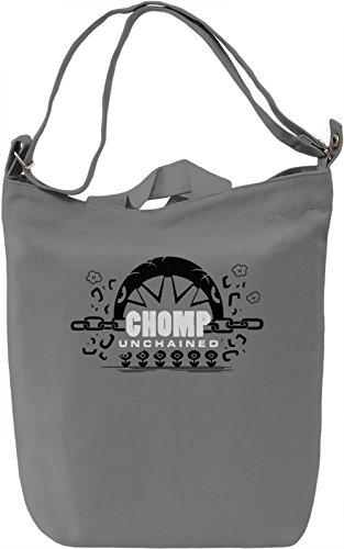 Chomp Unchained Borsa Giornaliera Canvas Canvas Day Bag| 100% Premium Cotton Canvas| DTG Printing|