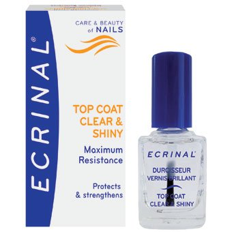 ECRINAL Clear and Shiny Strengthening Topcoat 10ml Laboratoire Asepta
