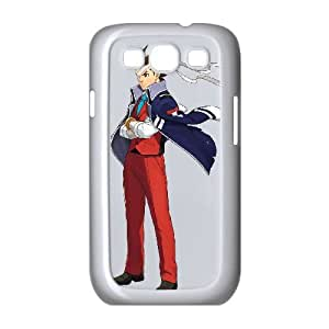 Ace Attorney Investigations Miles Edgeworth 10 funda Samsung Galaxy S3 9300 caja funda del teléfono celular del teléfono celular blanco cubierta de la caja funda EVAXLKNBC28454