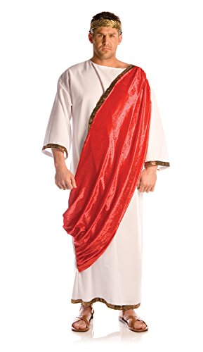 Underwraps Men's Emperor, White/Red, One
