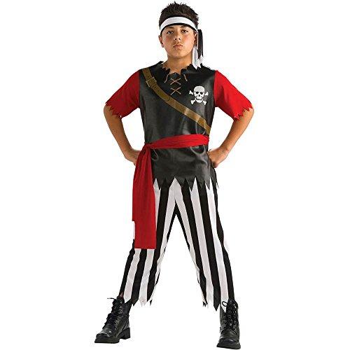 Kids Pirate King Pirate Costumes (Pirate King Child Costume - Large)