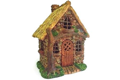 Mini Dollhouse FAIRY GARDEN Accessories - English Tree Cottage - My Garden Miniatures (English Cottage Kit)