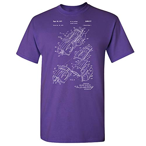 - Hockey Gloves T-Shirt, NHL Player, Coach Gifts, Ice Sports, Stanley Cup, Presidents Trophy, Goalie Equipment Purple (XL)