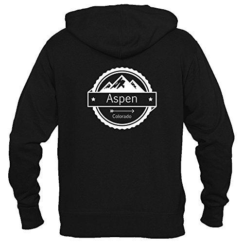 Aspen Sweater (Aspen, Colorado Circle Three Peak - Women's Full-Zip Hooded Sweatshirt/Hoodie (Medium, Black))