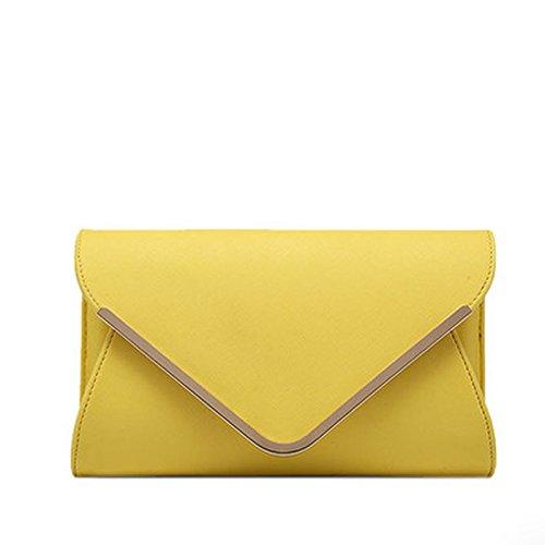 PU Wristlet Bag Envelope H Evening Purse Bag Clutch Bag Leather With Envelope Chain Clutch Shouder Strap Handbag 8w8qHrT