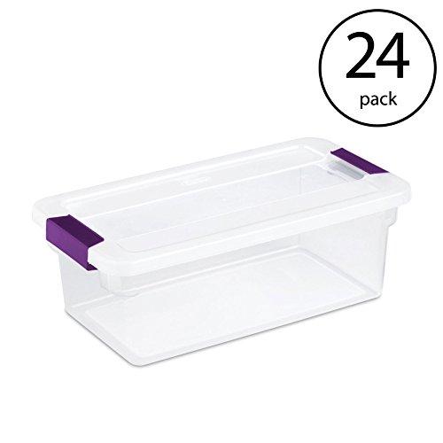 STERILITE 1751 6-Quart Clearview Latch Box Storage Tote (24 Pack)