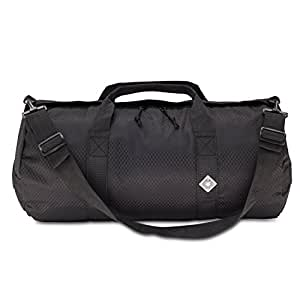 Northstar Sports 1050 HD Tuff Cloth Diamond Ripstop Series Gear and Duffle Bag, 12 x 24-Inch, Midnight Black
