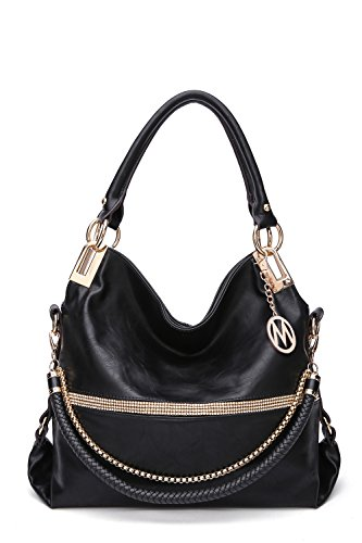 Black MKF Farrow Handbag Twister Collection Mia K by rPvqB0wSP