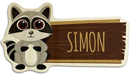 Turschild Aus Holz Mit Namen Simon Motiv Fuchs Namensschild