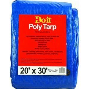 Do it Best 736228 Medium-Duty Tarpaulin 20X30 Blue ()
