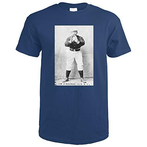 New York Giants - Jim O'Rourke - Baseball Card 22547 (Navy Blue T-Shirt Large)