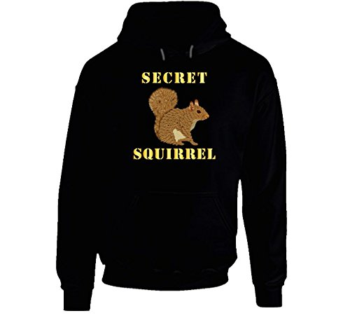 LARGE - Emblem - Secret Squirrel With Text Hoodie - Black ()