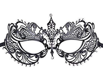 ZK.nesi Máscara de Hierro Forjado máscara de Diamante de Recorte de Metal Prom Media