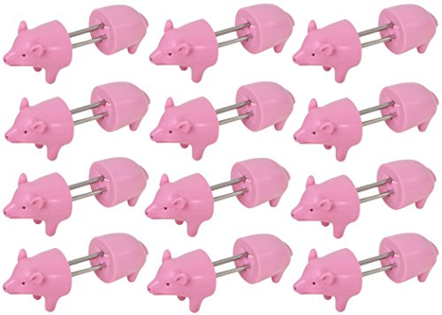 Cobble Creek, Piggy Corn Holders - 12 Pairs Of Pig Shaped Corn Cob Holders (Pig Corn Holders)