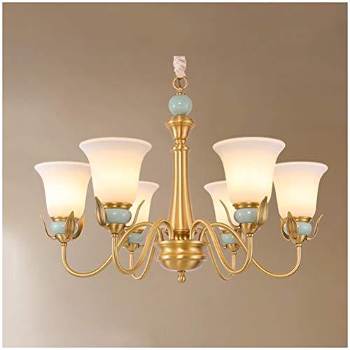 Y.T Living Room Pendant Light Dining Room Bedroom Chandelier Modern Minimalist Ceiling Lighting Garden Copper Ceramic Lamps