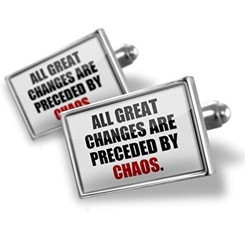 Cufflinks Change, Chaos. quotes - (Chaos Cufflinks)