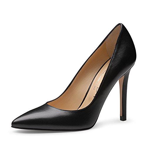 Punta con Shoes Zapatos de Negro para Cerrada Evita Tacón negro Pump Mujer EXnYdUXxq