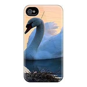 Premium Tpu A Swan Cover Skin For Iphone 4/4s