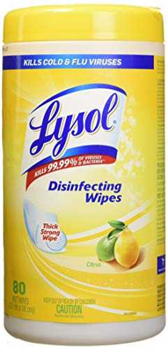 Lysol Disinfecting Wipes, Lemon & Lime Blossom, 80 Wipes,Packaging May Vary