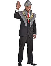 SUIT YOURSELF Coming to America Prince Akeem Costume Accessory Supplies for Adults, Include a Hat, Stole, and Necklace