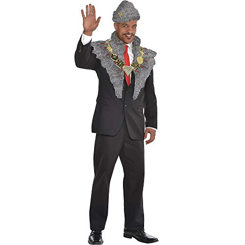 SUIT YOURSELF Coming to America Prince Akeem Costume Accessory Supplies for Adults, Include a Hat, Stole, and Necklace -