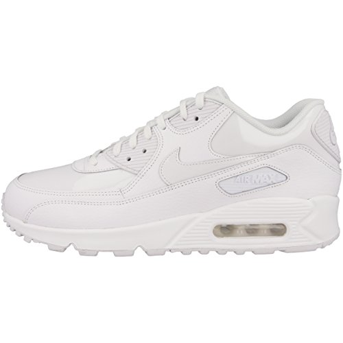 Nike Damen Wmns Air Max 90 Leather Gymnastikschuhe weiß/weiß-weiß